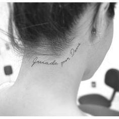 30 Sexy And Simple Back Of Neck Tattoo Designs You'll Like – Page 9 of 30 Sexy And Simple Back Of Neck Tattoo Designs You'll Like; Back of Neck Tattoo; Back Of Neck Tattoo Design; Diskrete Tattoos, Hairline Tattoos, Mini Tattoos, Cute Tattoos, Beautiful Tattoos, Body Art Tattoos, Small Tattoos, Tattoo Life, 4 Tattoo