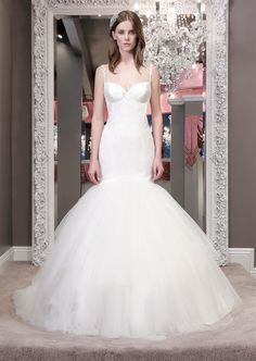 Paiva 8456  Pattered lace drop waist to full grand tulle skirt withdelicate lace strap and exquisite illusion low back - See more at: http://www.winniecouture.com/wedding/detail/blush-label/1/683#sthash.kWwq67sU.dpuf