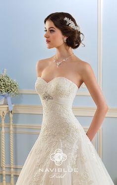 Свадебное платье с удлиненным корсетом Navi Blue 13490 www.rosablanca.ru