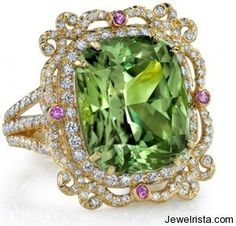 The green of the ocean, Diamond Ring By Erica Courtney