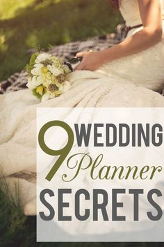9 Wedding planner secrets to make your life easier. See more http://applebrides.com/2013/10/24/9-secrets-from-wedding-planners/