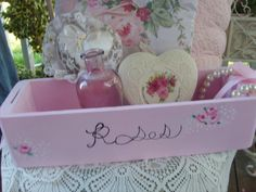 SHABBY CHIC PINK Romantic Home Decor Candy by BellaRoseCottage