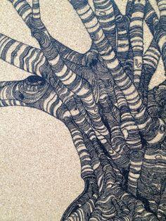 Tree study on cork 2 by NeilShrubbPrints on Etsy, £55.00
