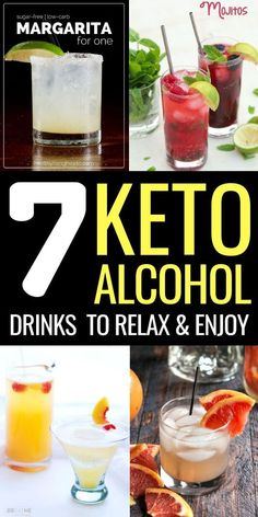Keto Alcohol Drinks: 7 cocktail recipes on the ketogenic diet - Healthy Drinks Low Carb Cocktails, Cocktail Drinks, Cocktail Recipes, Drink Recipes, Keto Foods, Keto Snacks, Keto Recipes, Ketogenic Recipes, Iced Coffee