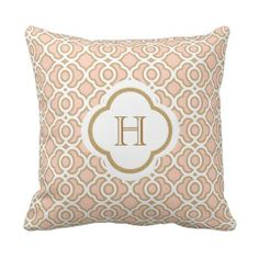 Myran allan chandelier for home pinterest luxury blush pink and gold moroccan monogram throw pillow mozeypictures Gallery