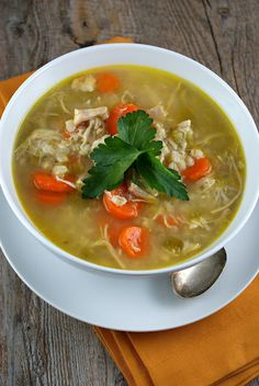 { Rotisserie Chicken & Barley Soup }