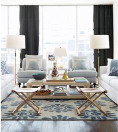 Furniture layout and mix of pieces