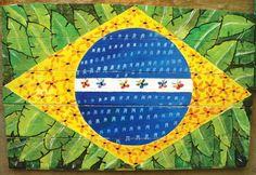 Bandeira brasileira, s/d    Olavo Campos    Madeira reciclada