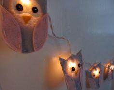 Owl Nursery Night Light Nursery Decor Baby Shower by bubblewish