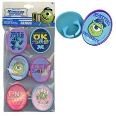 Monsters University 6pk Cupcake Topper Rings with Sticker on Plastic Insert * Find out more about the great product at the image link.  This link participates in Amazon Service LLC Associates Program, a program designed to let participant earn advertising fees by advertising and linking to Amazon.com.