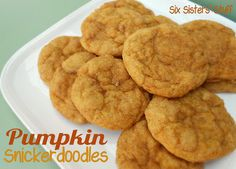 Pumpkin Snickerdoodle Cookies- these are so soft and delicious.