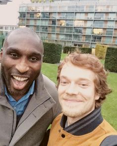 Alfie Allen and English former soccer player Sol Campbell (11/15/2016)Alfie Allen continues to work on his upcoming soccer documentary this week.