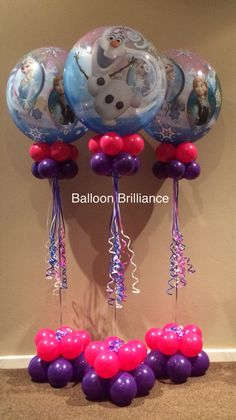 Frozen Mylar Balloon Pillar