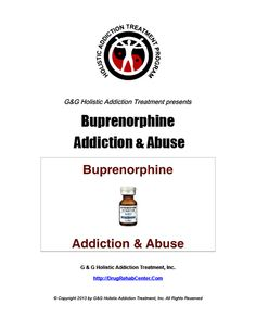This Special Report discusses Buprenorphine Addiction and Abuse.