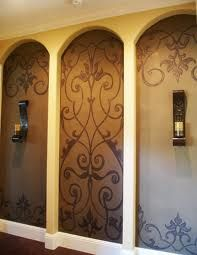 Designer interiors always have gorgeous painted large wall art graphics using wall stencils. You can decorate your own home with these custom Modello stencils. Alcove Decor, Niche Decor, Wall Decor, Alcove Ideas, Décor Niche, Wall Nook, Niche Design, Mediterranean Home Decor, Faux Painting
