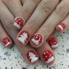 christmas by preciousphan #nail #nails #nailart