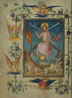 Illuminated Manuscript, Book of Hours, Last Judgement, Walters Manuscript W.168, fol. 148v. Mid-1400s. From Walters Art Museum: http://www.flickr.com/photos/medmss/6882585015/
