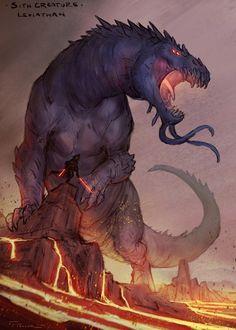 Monster Concept Art, Star Wars Concept Art, Fantasy Monster, Monster Art, Star Wars Art, Weird Creatures, Fantasy Creatures, Mythical Creatures, Creature Concept Art