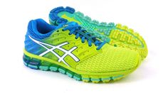 NEW Womens ASICS Gel-Quantum 180 2 Yellow/White/Blue Size 8 M  ~T6G7N/0701  #ASICS #AthleticSneakers #Athletic