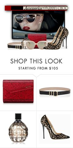 """Jimmy Choo Accessories"" by roxie ❤ liked on Polyvore featuring Jimmy Choo"