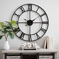 Gavin Round Wall Clock - Metal Gavin Round Wall Clock Item 169078 -Metal Gavin Round Wall Clock - Metal Gavin Round Wall Clock Item 169078 - Grande horloge en métal Gaïa Ø 90 cm - Piles incluses Metal Gavin Round Wall Clock Black Wall Clock, Dining Room Walls, Home Decor, Living Room Interior, Living Room Clocks, Living Wall Decor, Wall Clocks Living Room, Bedroom Wall, Bedroom Clocks