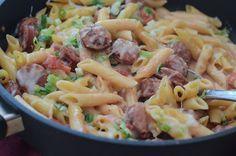 Skillet Sausage Pasta Recipe on Yummly. @yummly #recipe