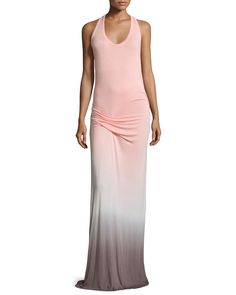 Hamptons Racerback Ombre Maxi Dress, Melon Ombre - Young Fabulous and Broke
