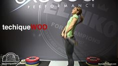 An Easy Way to Teach Beginners How to Clean w/ Christmas Abbott - Jump and Punch #snatch #crossfit