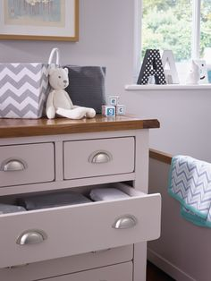 A pleasingly proportioned, solid hardwood baby changing dresser with a cleverly designed changer top that can be removed once it is outgrown. Remove the changer from the top when no longer needed, and you still have a softly finished chest of drawers for a child's bedroom.