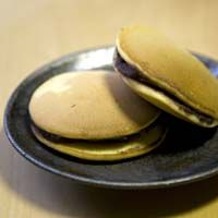 """Dorayaki  Wagashi, mini pancakes filled with bean paste: """"Wagashi"""" is a delicious Japanese sweets full of natural goodness. """"Wagashi"""" contains red bean, kidney beans, glutinous rice, powdered rice, sweet potatoes, sesame, agar-agar and sugar. """"Wagashi"""" is full of sun kissed goodness and high in plant protein. There is almost no animal fat, which makes it a wholesome, healthy product. Natural unrefined sugar is one of the important ingredients in """"Wagashi""""."""