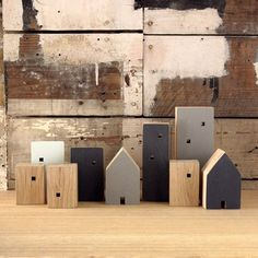 LIttle houses created from reclaimed wood