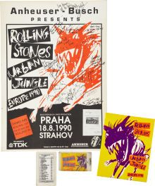 The Rolling Stones Strahov Stadium, Prague, Signed Concert Poster (1990)