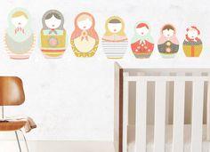 Matryoshka Crazy- Nesting Dolls - WALL DECAL