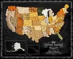 Map of United States Made from corn by caitlin levin and henry hargreaces
