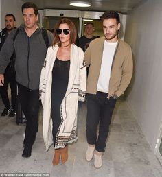 Keeping it simple: Liam meanwhile went for a similar colour pallet to his pretty girlfrien...