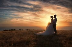 Stunning sunset perfect for a wedding shoot - what a delight to photograph this couple! Amazing Wedding Photography at affordable prices by Paul Michaels #wellington #weddingphotography #weddings