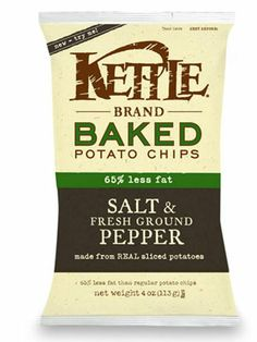 20 Kettle Brand Baked Potato Chips in Salt & Fresh Ground Pepper  #lowcalorie #smooth #fitness