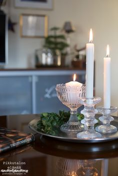 Candles And Candleholders, Merry Christmas, Candle Holders, Sweet Home, Table Settings, Dining Room, Cottage, Lights, Modern