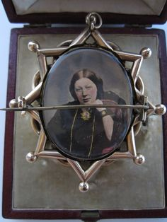 back of mourning brooch