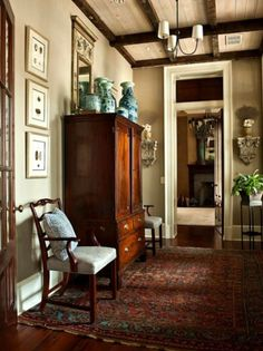 Splendor in the English Country Foyer