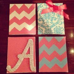 Could totally make these out of cork board & paint over it, decoration AND it'd be useful!!