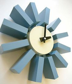Beat the Winter Blues with Some Modern Blue Accessories - love this blue Nelson #clock! #georgenelson #mcm