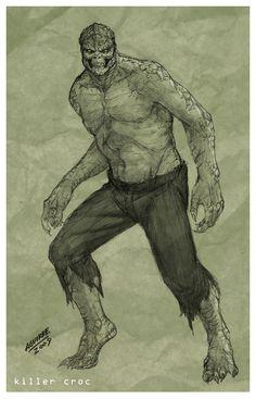 Killer Croc Redesenhado por sketcheronline