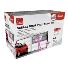 Garage Door Insulation Kit - because the girl's room above the garage is not supposed to be a sauna in the summer.
