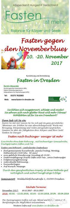 Fasten gegen den Novemberblues - Magazine with 2 pages: Fasten in Dresden  Ambulanter Fastenkurs