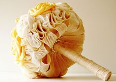 Fabric Wedding Bouquet Weddings Vintage Bridal by bouquets4love, $200.00