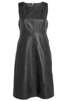Vestido de couro Ellos Sara Kelly nas cores preto, categoria Cognac Mulheres - Vestidos - Ellos