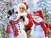 1507a - Santa Builds a Snowcouple.jpg   Gelsinger Licensing Group
