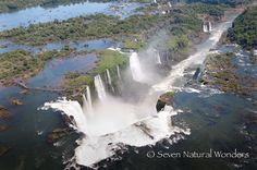 Tourists come to Argentina from the American continent and Europe as it has all kinds of tourist attractions. Attractions in Argentina vary from splendid nature, to colonial towns, soccer games, rich 7 Natural Wonders, Iguazu Falls, Earth From Space, Fall Pictures, Travel And Tourism, World Heritage Sites, Amazing Nature, Science Nature, Places To See
