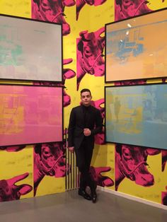 "busbyshowgirl: After the show, there was a private dinner at the Musée d'art Moderne and we got a special sneak preview of the new ""Andy Warhol Unlimited"" exhibition. What a thrill! Interview Magazine: Rami Malek's Dior Homme Diary"